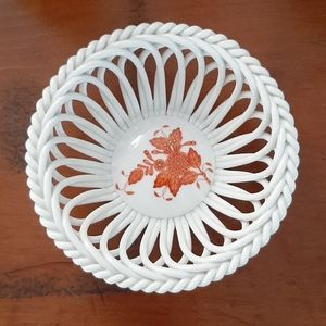 Herend • Chinese Bouquet small openwork basket